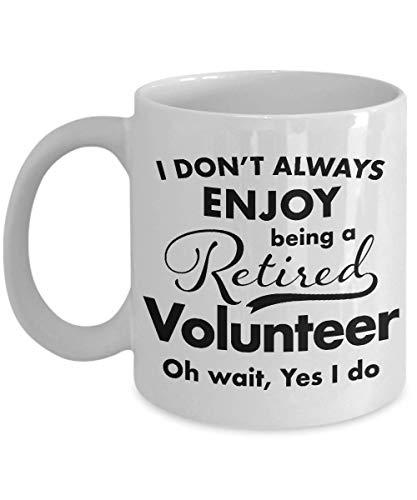 Retirement Gifts for Volunteer Coffee Mug - Best Thank You Appreciation Ideas for Retired Volunteer Men Women Friend Coworker - Retire in 2018-11 oz -