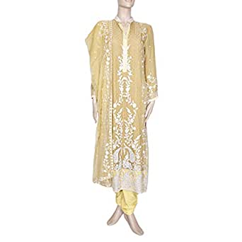 Shabnam Yellow Casual Kameez & Salwar Set For Women
