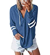 Nekosi Womens Long Sleeve Crew Neck Hoodie Sweatshirts Lightweight Pullover Tops