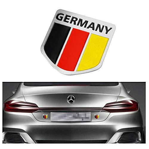 Xotic Tech 1pcs Alloy Metal German Germany Flag Sticker - Car Bumper Front Hood Rear Trunk Side Skirt Mirror Grille Decal Emblem Badge for BMW Benz Audi Exterior Decoration ()