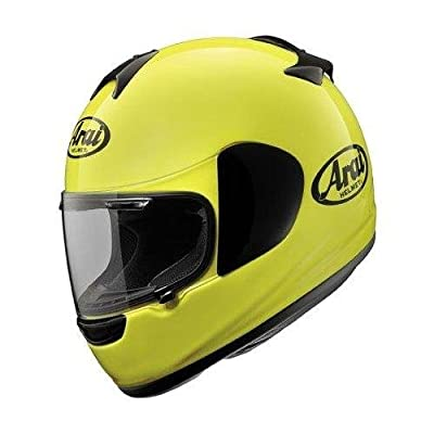 Arai Vector-2 motorcycle helmet yellow side view.