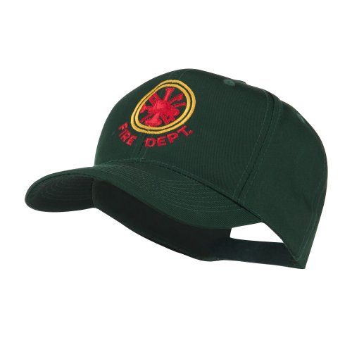 E4hats Fire Fighter Dept Symbol Embroidered Cap - Green OSFM (Dept Embroidery Fire)