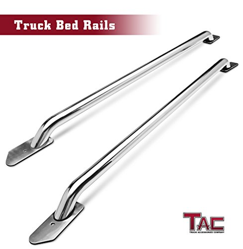 TAC Bed Rails Fit 2014-2019 Chevy Silverado 1500 / GMC Sierra 1500 5.5ft Short Bed T304 Stainless Steel truck Side rails Off Road Automotive Exterior Accessories (2 Pieces Bed Rails) (Off Road Sides Bed)