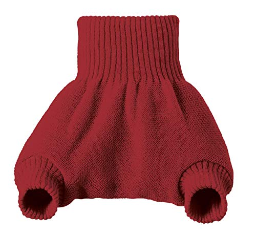 - DISANA 100% ORGANIC WOOL DIAPERS COVER/SOAKER/OVER PANTS MADE IN GERMANY (Bordeaux, 6-12 months (74/80))