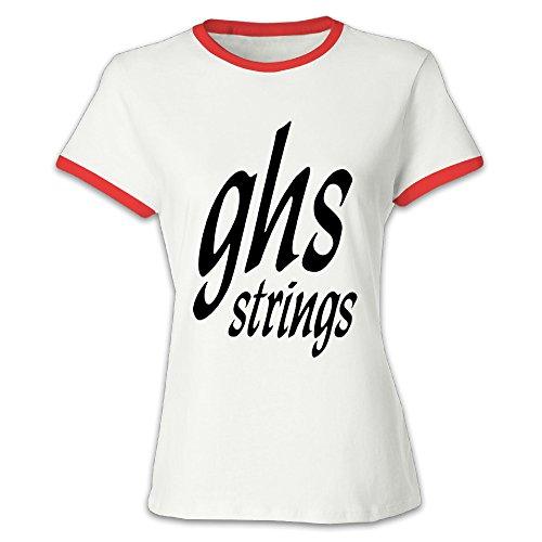 Youqian GHS Strings Logo Women's T-Shirt Small Red Womens