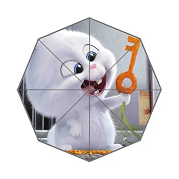 cozyhome vida secreta de mascotas conejo personalizado sol lluvia paraguas plegable paraguas