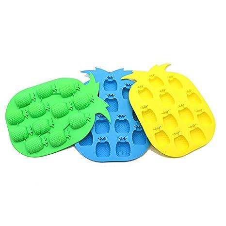Amazon.com: IDS Cubito de hielo molde bandeja Piña Diseño, 3 ...