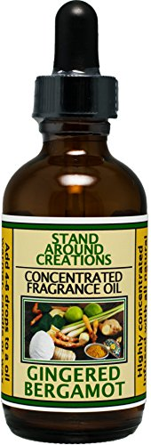 Concentrated Fragrance Oil - Gingered Bergamot: A blend of fresh citrus bergamot w/ exotic spices such as ginger, sandalwood, patchouli, & basil. Infused w/essential oils.(2 fl.oz.) by Stand Around Creations
