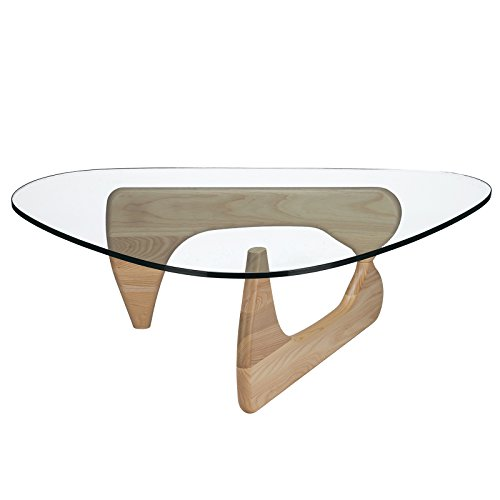 Poly and Bark Isamu Noguchi Style Coffee Table, Natural