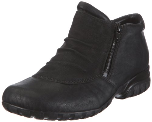 Rieker womens bootee extra wide Black size 40.0 EU by Rieker