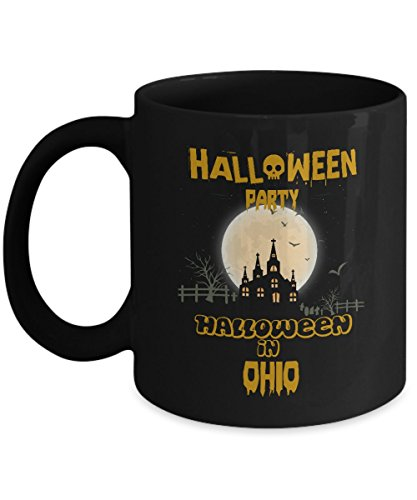 Awesome halloween party, special event gifts mug - Halloween Party in Ohio - Amazing gift For For Dad, husband On Halloween - Black 11oz 2 sides]()