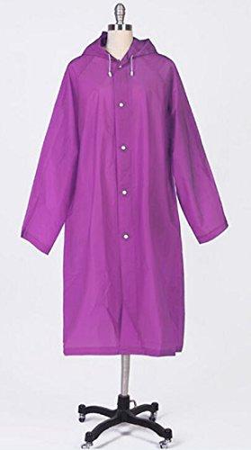 Meta-U Écologique Eva Femmes De La Mode Translucide Imperméable (M, Purple)