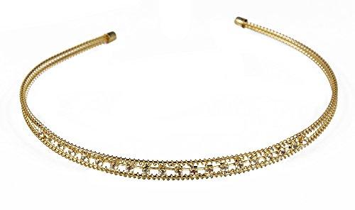 Demarkt® Serre Tete Cheveux pour Accessoire avec Mignon Diamant Deux Rang Couleur de l'Or