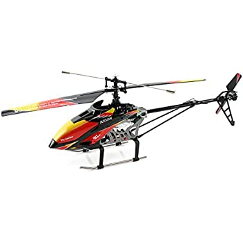 Red And Black Cool Wltoys V913 Large Alloy 70cm 24G 4CH RC Remote Control Helicopter