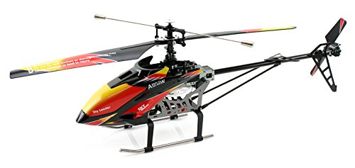 Red and Black Cool Wltoys V913 Large Alloy 70cm 2.4G 4CH RC Remote Control Helicopter with Gyro]()