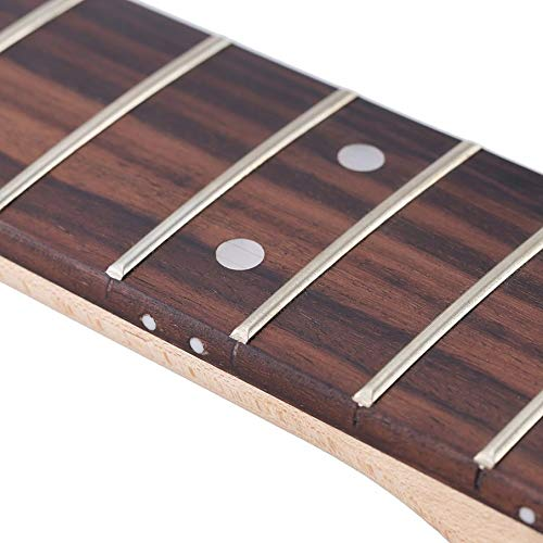 KNOSSOS Replacement Maple Neck Rosewood Fingerboard for Fender Strat Electric Guitar