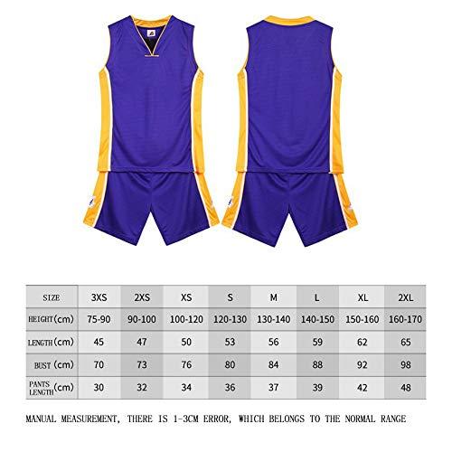 150-160CM BUY-TO James Trikot Basketballuniform f/ür Kinder Kid Anzug T-Shirt Lakers Shorts Geeignet f/ür Kinder im Alter von 8-15 Jahren Jungen M/ädchen,Purple,XL