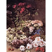 12X16 inch Claude Monet Floral Canvas Art RePro SPring flowers