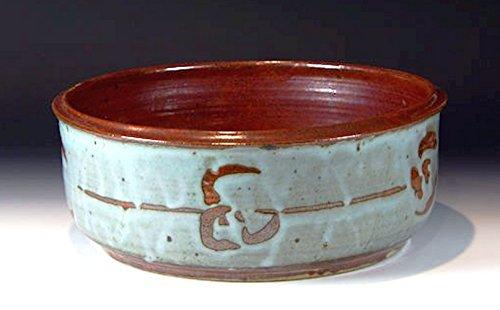 - Hand thrown stoneware pottery center piece bowl 001 13