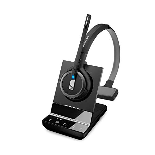 SENNHEISER SDW 5036 (507020) - Single-Sided (Monaural) Wireless Dect  Headset for Desk Phone Softphone/PC & Mobile Phone Connection Dual  Microphone