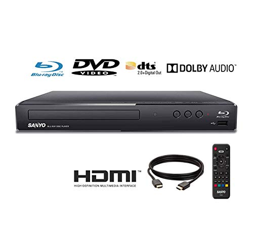 Best Prices! Sanyo FWBP506F Blu-ray Player 6FT HDMI Cable Included (Renewed)