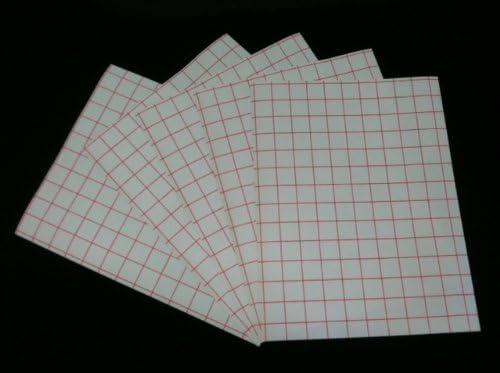 Rojo rejilla de inyección de tinta papel de transferencia de calor – 8,5 x 11 (25 hojas): Amazon.es: Oficina y papelería