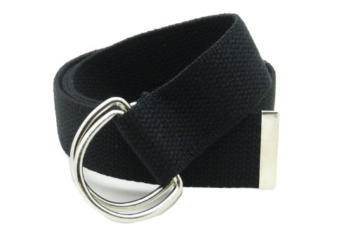 Buckle Closure Belt (Canvas Web Belt Double D-Ring Buckle 1.5