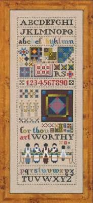 Amish Quilt Sampler, Cross Stitch from Told in a Garden