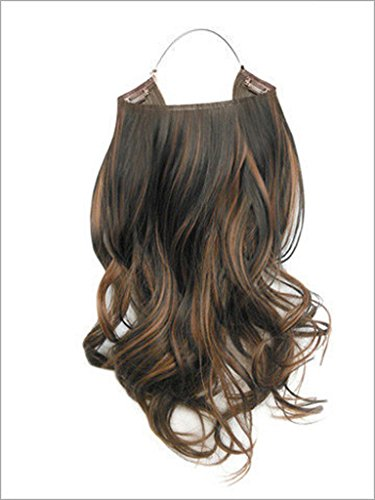 Hidden Halo Synthetic 18 Inch Curly (26 : Butterscotch)