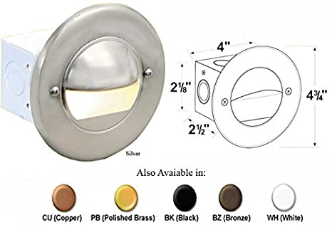 Corona CL-358-BZ -Low Voltage/ 12V Step Light Steel Half-Moon, Bronze - Outdoor Step Lights - Amazon.com