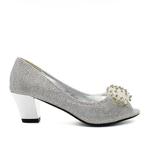 London Silver Footwear toe Peep Donna zF16FXq