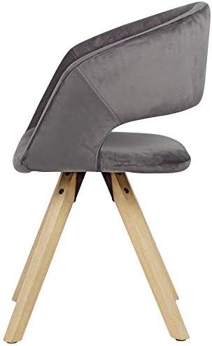 KADIMA DESIGN Chaise Noir Velours Gris Moderne
