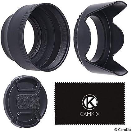 55mm 2 Kamera Objektiv Sonnenblenden 1 Objektivkappe Kamera
