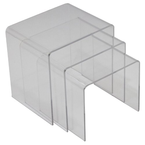 Modway Casper Modern Acrylic Nesting Tables, 3-Piece Set
