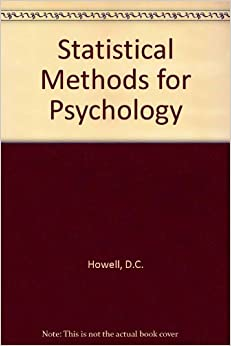 Book Statistical Methods for Psychology