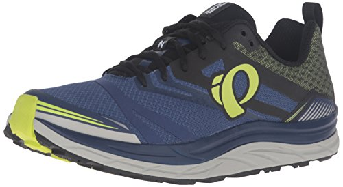Pearl Izumi Men's EM Trail N3 Trail Running Shoe, Blue Depths/Lime Punch, 7 D US by Pearl iZUMi