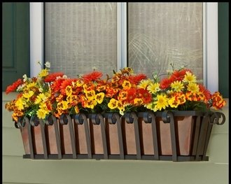 60'' Venetian Decora Window Box with Bronze Galvanized Liner by Windowbox.com