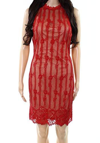 Medium Illusion Sheath Lace Dress Red Womens Forum M Dress qw1BAxRPF