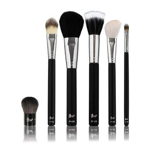 Petal Beauty 6 Piece Brush Face makeup Professional Kit - Matte