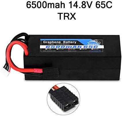 SHUGJAN El grafeno RC Batería Lipo 2S 7.4V 11.1V 3S 4S 14,8 5S 6S 18.5V 22.2V 3000mAh 3300mAh 4000mAh 5000mAh 6000mAh 6500mAh for el coche de RC Piezas de montaje RC (Color : 4S 6500mah 65C TRX H)