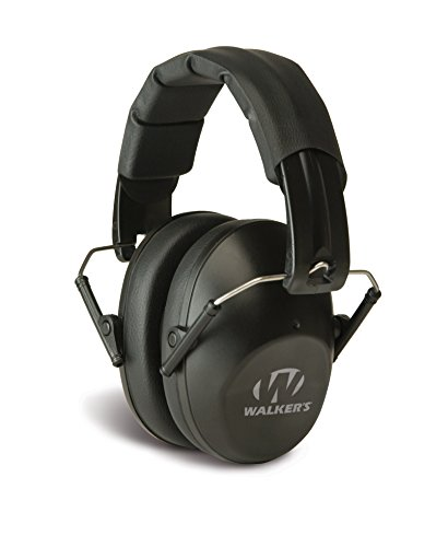 Walkers-Game-Ear-Pro-Low-Profile-Folding-Muff-Black