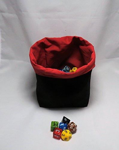 Square Dice Bag / Reversible Tile Pouch- Plain Coloured Reversible Freestanding - D&D RPG Bags