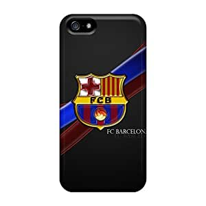 Iphone 5/5s CUN22518Hiwt Support Personal Customs Trendy Fc Barcelona Pattern Best Cell-phone Hard Covers -CassidyMunro hjbrhga1544