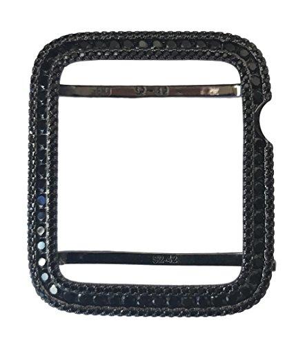 - EMJ Series 2,3 Bling Apple Watch Black Zirconia Bezel Face Case Insert 38/42 mm (42, series 3 non-ceramic)