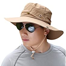 Mens Outdoor Sun Cap Bucket Boonie Hat Fishing Hats Boating Hat - Sun Protective