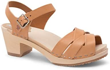 Sandgrens Swedish High Heel Wood Clog Sandals for Women | Rio Grande
