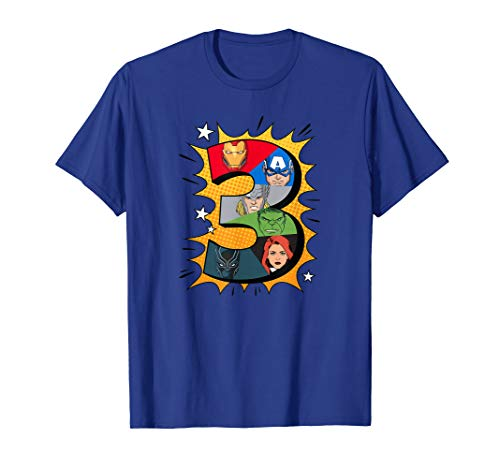 Marvel Avengers Comic Super Heroes 3rd Birthday T-Shirt]()