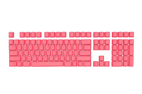 Mionix Keycaps Frosting Pink Red Color For Full Size Gaming Mechanical Keyboard With Cherry