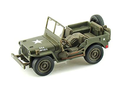 Amazon Com Jeep Willys 1 32 Army Green By Newray Toys Games