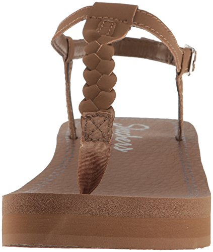 Skechers Women's Vinyasa White Sands Wedge Sandal Brown gpL2KYd